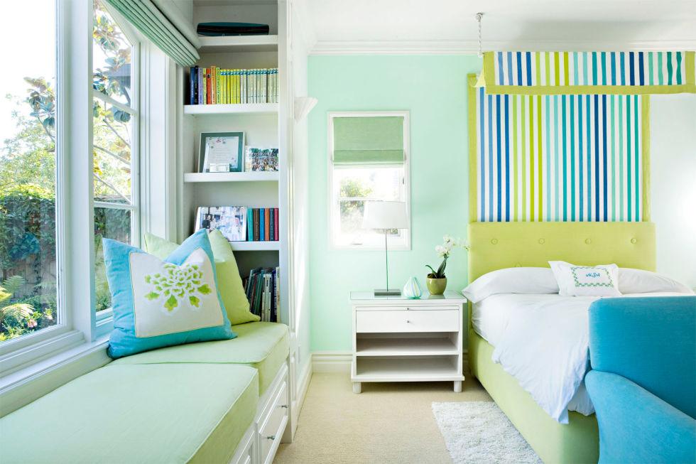 mẫu sơn nhà nội thất xanh ngọc