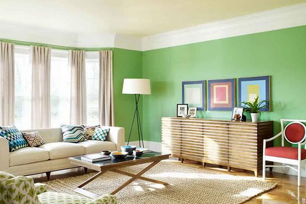 mẫu sơn nhà màu xanh lá