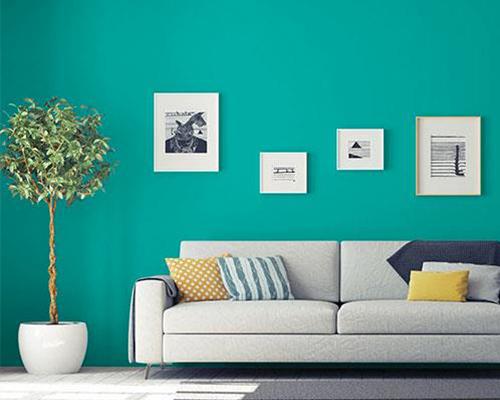 mẫu sơn nhà màu xanh lam