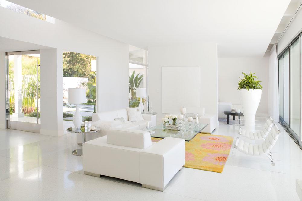 mẫu sơn nhà nội thất màu trắng sứ