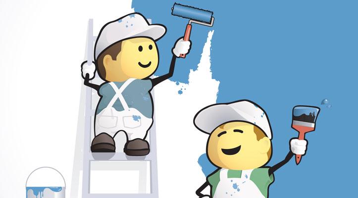 sơn phủ màu cho ngôi nhà