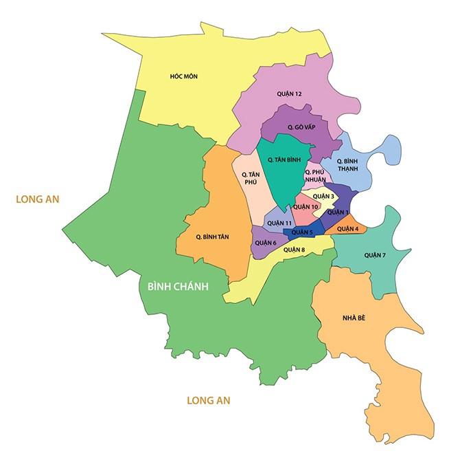 Các quận khu vực niềm Nam