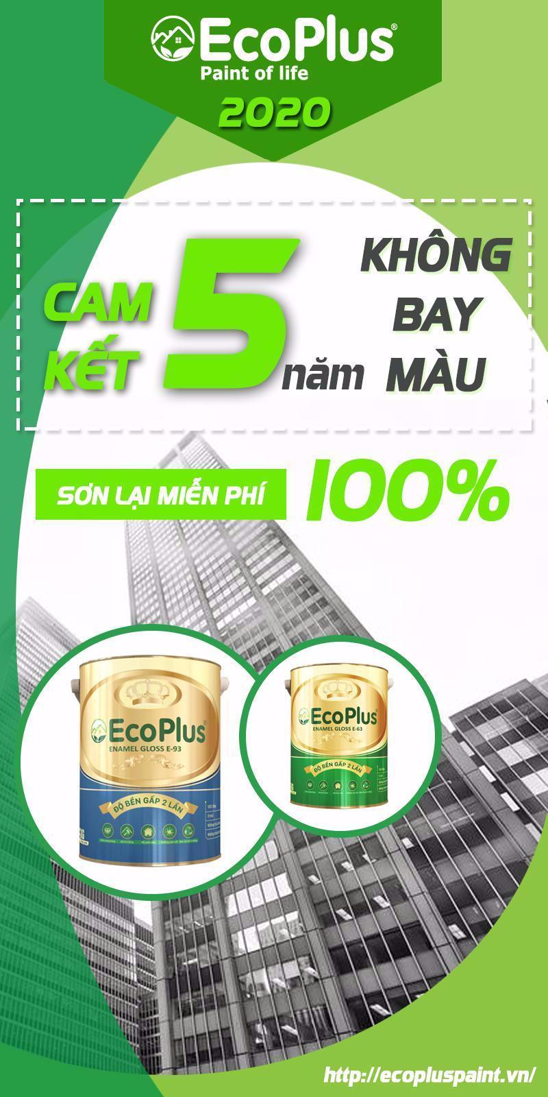 Sơn Ecoplus cam kết chất lượng sản phẩm