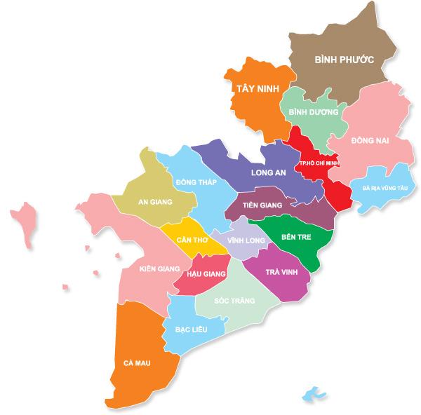 Các tỉnh miền nam