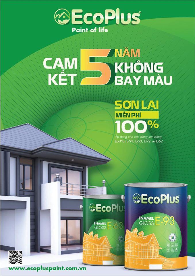 Ecoplus cam kết 5 năm không bay màu