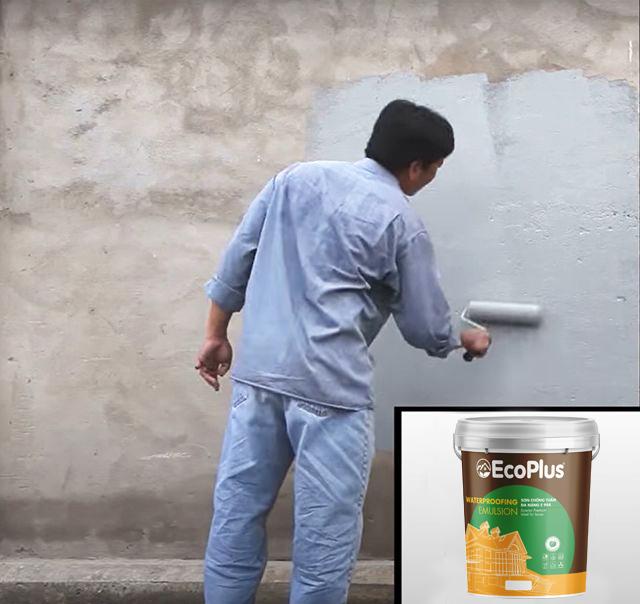 kỹ thuật sơn chống thấm ecoplus 1