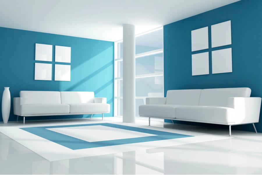 Sơn nhà xanh dương cho không gian tươi mát