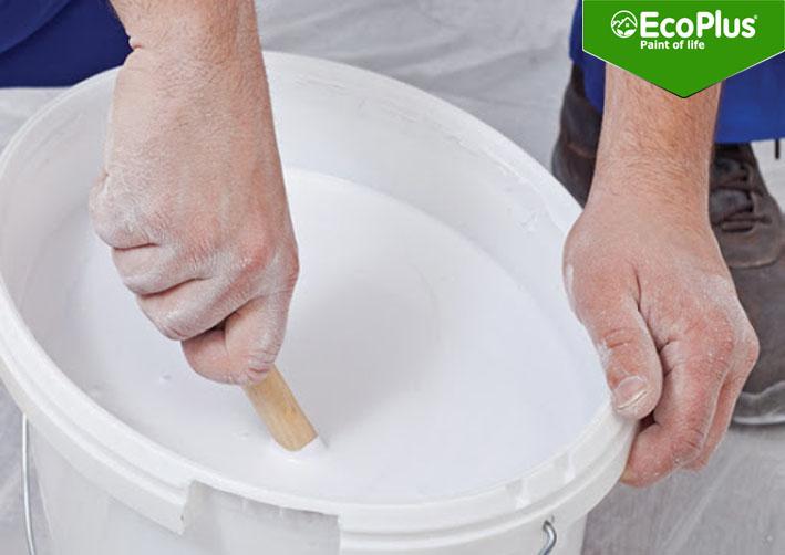 sơn đã pha nước để được bao lâu ecoplus