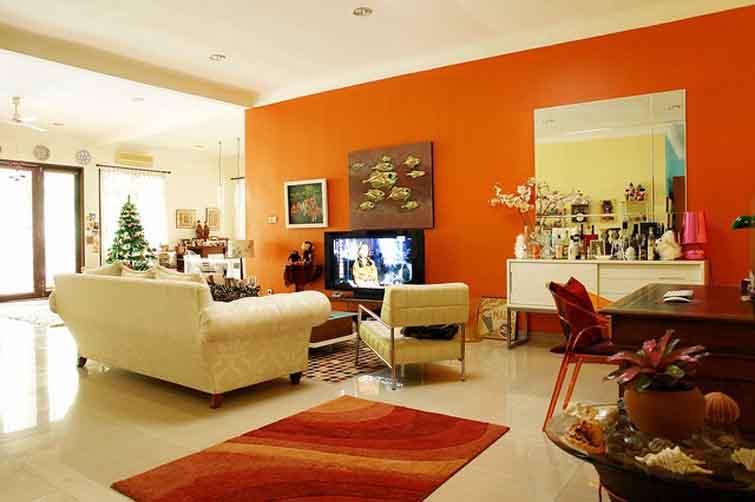 sơn nội thất màu cam