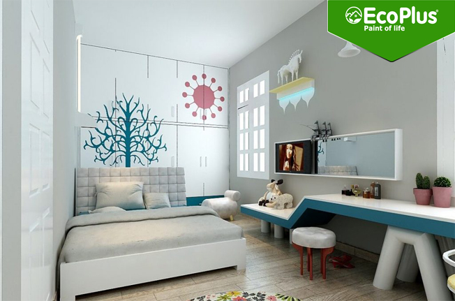 bí quyết chọn màu sơn nhà cho không gian nhỏ hẹp