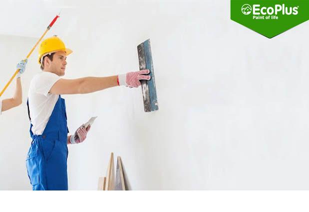 cách pha bột bả tường đúng kỹ thuật