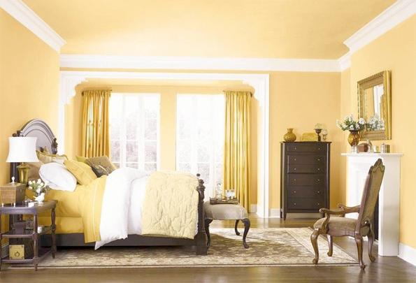 năm mới sơn nhà màu vàng ánh kim