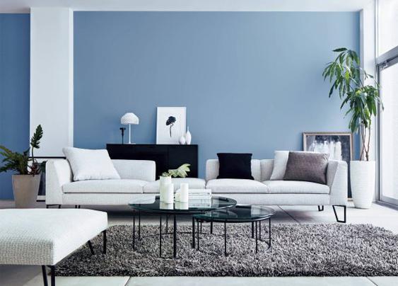 năm mới sơn nhà màu xanh dương