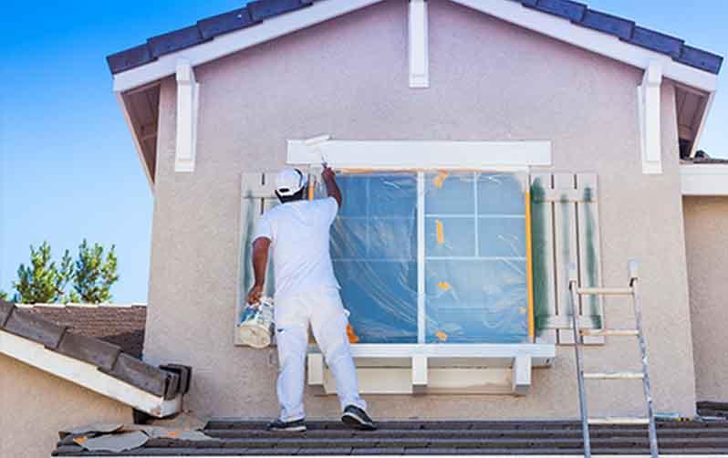 tính lượng sơn ngoài nhà