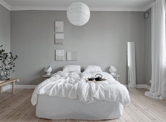 chọn màu ghi sáng cho phòng ngủ