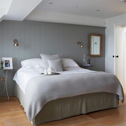 chọn màu ghi xám cho phòng ngủ