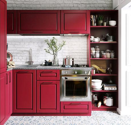 sơn phòng bếp cho người mệnh hỏa