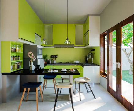 sơn phòng bếp cho người mệnh mộc