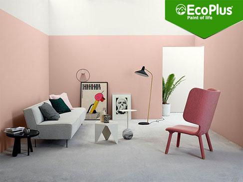 ý tưởng trang trí nội thất màu hồng phấn